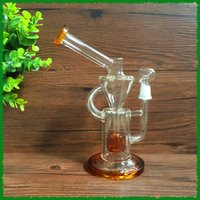 acrylic nail types - Amber Glass Recycler Oil rig glass bongs water pipes with mm dome and nail inch