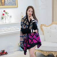 Wholesale Women s Winter Fashion Pashmina Cashmere Shawl Wraps Blanket Scarf Stole Poncho Capes Cloak Cardigans Coat