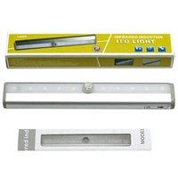 10 LED sans fil PIR capteur de mouvement lumière blanche lumière couleur armoire vestimentaire induction lampe nuit lumières pour l'hôtel placard