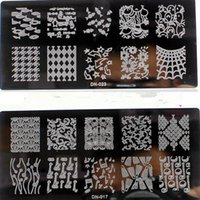 Wholesale PC DN CM Nail Art Stamping Plates Flower Image Templates Stamper Scraper Steel Polish Konad Nail Stamp Manicure Template