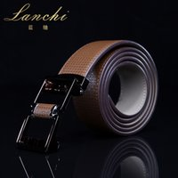 Wholesale Fashion Luxury Men s Automatic Buckle Cow Split Leather Waist Strap High Quality Male Business Trouser Belt LP15