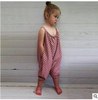 Wholesale children Girls Jumpsuits pants European and American kids girl sexy suspenders Jumpsuits pants children s clothing DHL freeship