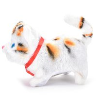 battery operated cat toys - Electric Cat Toy Cute Sound Walking Plush Electronic Pets Children Kids Educational Toy Hot Selling