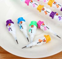 Wholesale Hot Sale PC The section the little snowman series of pencil cartoon creative students pencils