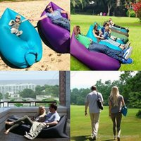 Wholesale Portable Inflatable Sofa Sleeping Bag Outdoor Air Sleep Sofa Couch Lazy Hangout Bag For Camping Travel cm QQA408