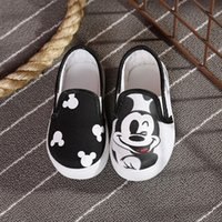 Wholesale Hot Sale Spring and Autumn Girl Boy Shoes Kids Shoes Canvas Flat Children Shoes Cartoon Mickey Shoes Soft Shoes US Size