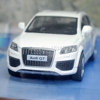 audi toy - Brand New UNI Scale Car Model Toys AUDI Q7 SUV Diecast Metal Pull Back Car Toy For Gift Collection Kids