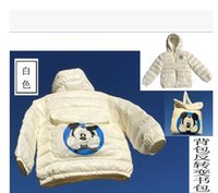 bag fund - Children thin coat down jacket bag Children s clothes of new fund of autumn winters The boy girl thin Mickey Mouse down jacket