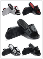 Wholesale Nike Men s Jordan Sandals Brand Scuffs High Quality Men J4 Suede Slippers Paste Buckle Massage Slippers Scuffs Eur