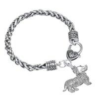 agate cameo - Sparkling Crystal Dachshund Bracelet Cute Dogs Animal Handmade Bracelet Cheap bracelet emerald High Quality bracelet cameo