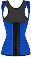 Wholesale Cincher Hooks - Rubber Waist Trainer Corset Women's Classic 3 Hooks Latex Trainer Shapewear Workout Waist Cincher For Weight Loss