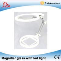 Wholesale Hot selling X X mm Magnifying glass HD desktop maintenance reading glasses Foldable LED Light Magnifier