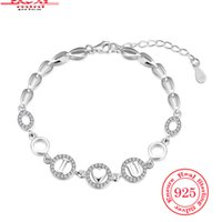affordable pearl jewelry - New Designer Silver Charm Bangle Bracelet Love Link Sterling Silver Bracelets For Lovers Bijoux Cubic Zirconia Affordable Jewelry