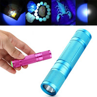 aa jewellery - High Quality nm Ultraviolet UV LED Flashlight Lamp Blacklight Torch for Money Jewellery Detector Power by AA Battery