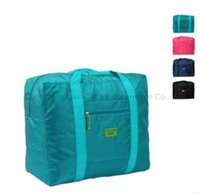 Wholesale women messenger bags shopping bags waterproof nylon folding travel admission package travel bag men and women tie rods clothes finishi