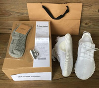 best womens socks - 2016 TOP best boost Beluga White Kanye West milan Running Sports Shoes mens womens Sneakers Keychain Socks Bag Receipt Boxes
