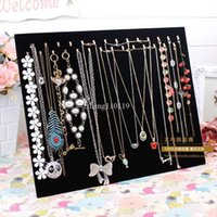 Wholesale Fashion Double hook black velvet necklace plate bracelet pendant necklace display rack jewelry holder accessories props