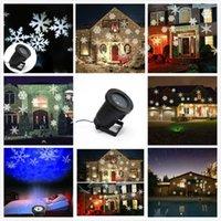 Wholesale Christmas Snowflake Laser Lights Snow LED Landscape Light Outdoor Holiday Garden Decoration Projector Moving Pattern Spotlight AC V