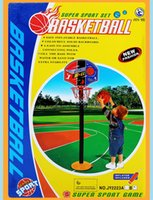 basketball stand height - set Can adjust the height basketball stands toy Super sport basketball stands basketball Inflator sets child fitness game gift