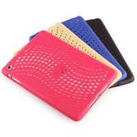 apple ipad mesh - Ultra thin with mesh style Soft Silicone Case Cover for Apple ipad mini mini with Heat dissipation function