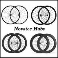 bicycle wheels uk - Ship From UK Stock C mm Width Road Bike Carbon Wheels mm Clincher Novatec Hubs Bicycle Wheelset