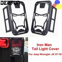 Wholesale One Pair Iron Man Skeleton Type Taillight Lamp Metal Protect Cover Sticker Suitable for Jeep Wrangler Car Accessories