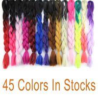 Wholesale 10pcs quot synthetic crochet braids hair dark blue colors kanekalon jumbo braids xpression braiding hair jumbo ombre hair for braids