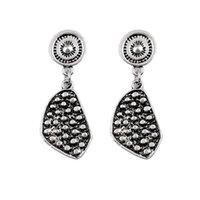 american retro jade jewelry - Antique Silver Bohemia Flower Retro Vintage Earrings For Women Lady New Jewelry Bijouterie pair drop shipping