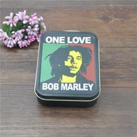 Wholesale 1 X BOB MARLEY Classic Metal Cigarette Case Holder Tobacco Box we can customize your logo