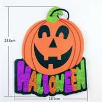 Wholesale Halloween Decoration Hanging Holiday Ornaments Office Home Shop Window Door Pumpkin Hanging Strips even party supplies listing