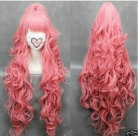 anime cosplay shop - 2016 Best Sellers store dong1235 wig shop gt gt cmVOCALOI D Megurine Luka PINK Anime Cosplay wig Clip On Ponytail
