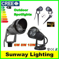 led lawn light - Cree LED Floodlights Garden Spot light Outdoor Waterproof W W W RGB Landscape Lights Wall Yard Path Pond Lawn Lighting V V