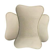 Wholesale Quality genuine leather pieces Car neck support pillow Auto interior accessory Car interior headrest neck pillow A pair set