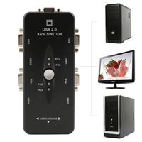 Wholesale 4 Ports USB KVM Switch Mouse Keyboard VGA SVGA Switch Box Video Monitor Sharing x1440