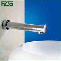 automatic bath faucet - FLG European Bath Mat Chrome Faucet Ceramic Free Touchless Battery Power Automatic Infrared Sensor Automatic Faucet Wall Tap T10