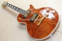 beer neck - LP Custom Electric Guitar Supreme Electric Guitar Ebony Fretboard Frets Binding One Pc Neck Brown Burst Beer Root
