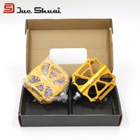 bicycle foot straps - Yellow Professor Bicycle Pedal Inch Alloy Ultralight MTB Road Bicycle Cycling Shoe Pedals Part Cleat Bike Strap Foot Device