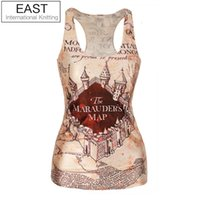 adventure time cover - EAST KNITTING V7 spring new women t shirt Marauders Map Cover tops adventure time camisole HOT SALE
