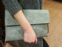 Wholesale Women s Litchi grain hand bag contracted envelope bag big folding soft skin large capacity hand bag