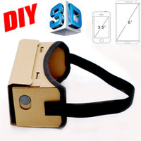 Wholesale Google Cardboard VR Box DIY VR Virtual Reality D Glasses Magnet VR Box Controller D VR Glasses for iPhone Android Samsung