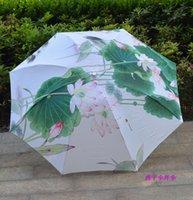 automatic lotus - Anti uv Lotus umbrella upf50 umbrella sun folding umbrella freeshipping