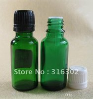 aroma oil cosmetics - 200 ml green glass essential oil bottle cosmetic packaging aroma oil bottle Glass Bottle With Plastic Lids