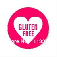 allergy free foods - 2 cm Gluten Free Allergy Safe Culinary Label Stickers
