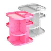 acrylic storage cabinet - Pink white Makeup case drawers Cosmetic Organizer Jewelry storage Acrylic cabinet Box