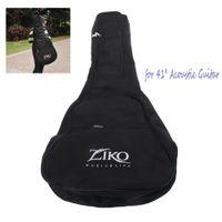 acoustic gitar - ZIKO DB Dual Shoulder Straps Pocket mm Pearl Wool Padded Black Universal Gig Guitar Bag for quot Acoustic Guitar