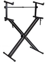 Wholesale Pro Adjustable Double Tier X Style Dual Electronic Piano Keyboard Music Stand