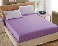 Wholesale New Bedclothes Solid Color Bed Protector Cover Mattress Pads Covers Reactive Printing Fitted Sheet ZH