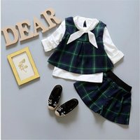 baby best bottle brand - 4set baby plaid girl sets cute baby set long sleeve clothes skirt vest for baby girl best gift