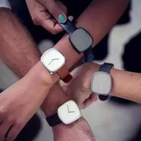 pebble watch - fashion Bulbul Watches Pebble P03 Milan Fashion New Stainless Steel Strap For Men Women Casual Watches Quartz Watch Relogio Masculino