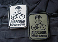 airborne paratrooper - 2 inch AIRBORNE Paratrooper Embroidery D Patch Morale Military Armband Embroidered patch with magic tape armband badge VP